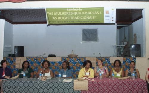 Pesquisadoras, agricultoras, quilombolas e quilombolas debateram o papel da mulher na roça